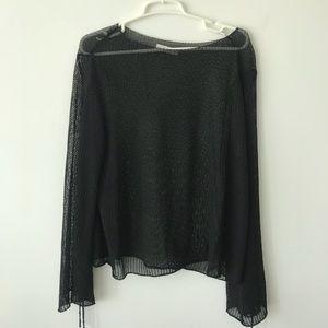 Zara oversized mesh sweater